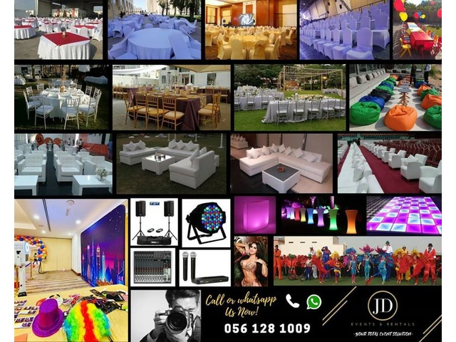 Events and Rental Services Call 056 128 1009 Dubai